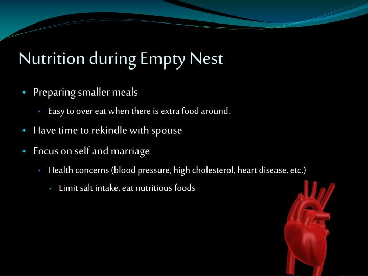 Nutrition during Empty Nest