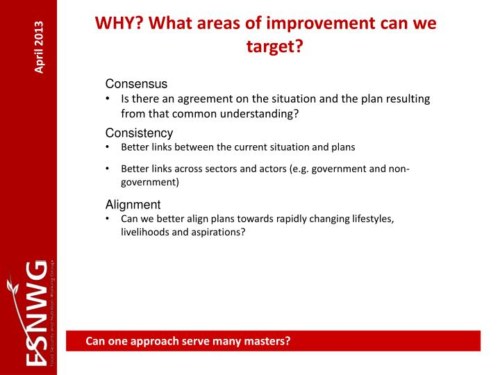 WHY? What areas of improvement can we target?