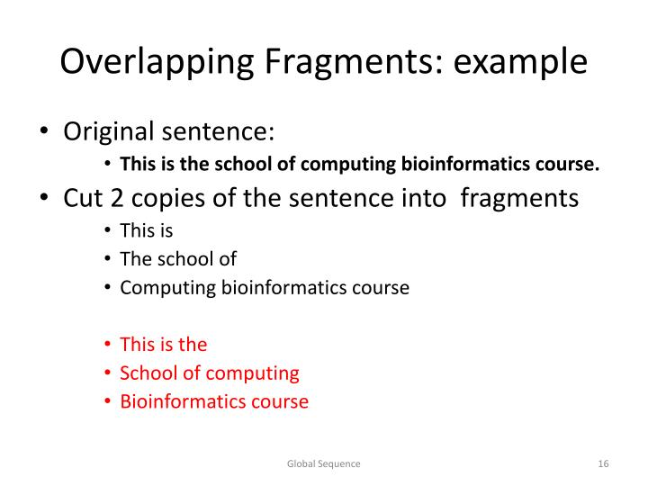 Overlapping Fragments: example