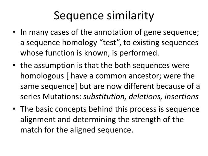 Sequence similarity
