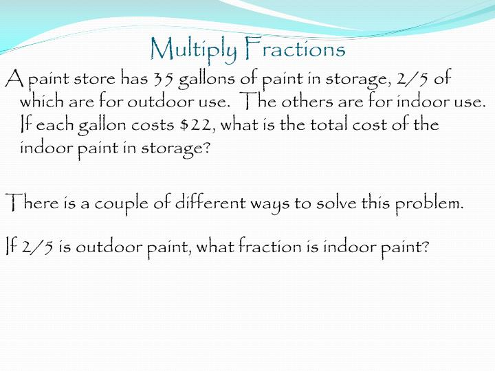 Multiply Fractions