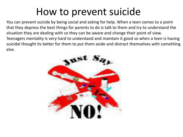 How to prevent suicide