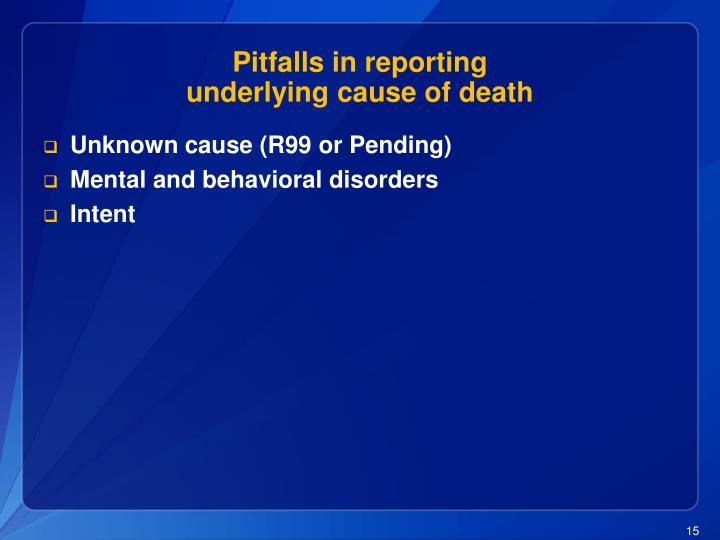 Pitfalls in reporting