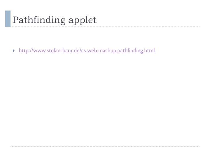 Pathfinding applet