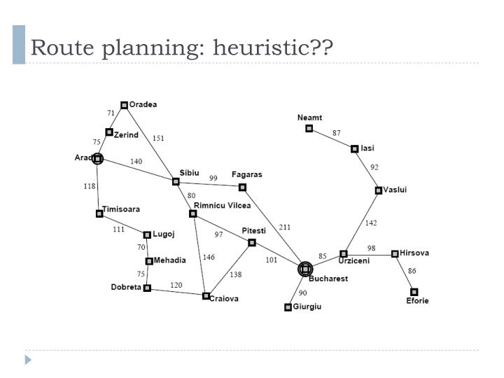 Route planning: heuristic??