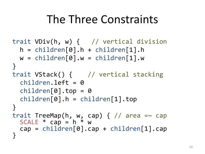 The Three Constraints