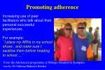 promoting adherence