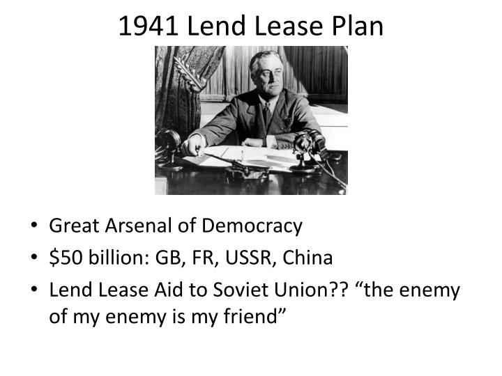 1941 Lend Lease Plan