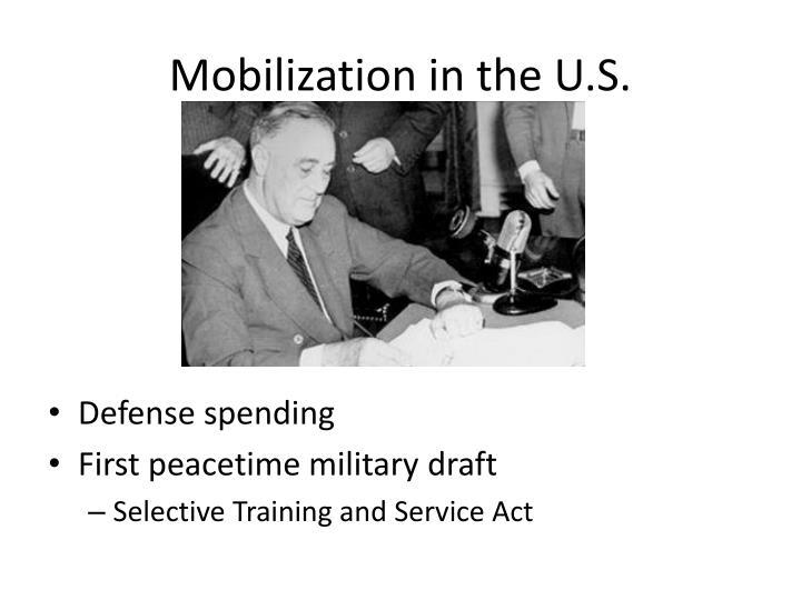 Mobilization in the U.S.