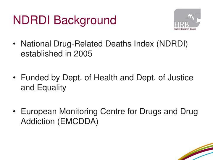 NDRDI Background