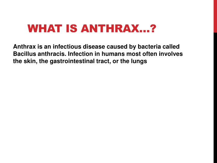 What is Anthrax…?