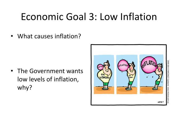 Economic Goal 3: Low Inflation