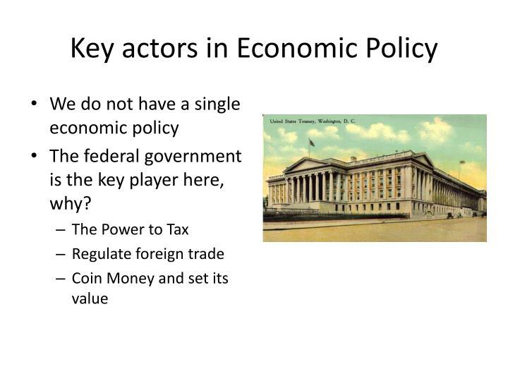 Key actors in Economic Policy