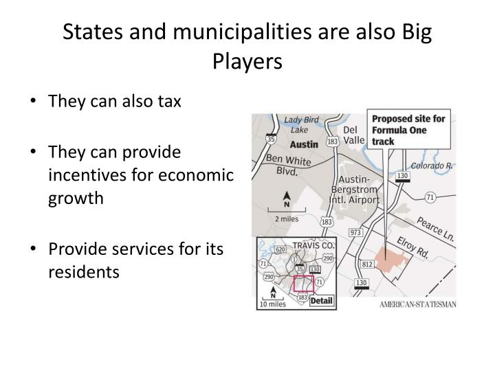 States and municipalities are also Big Players