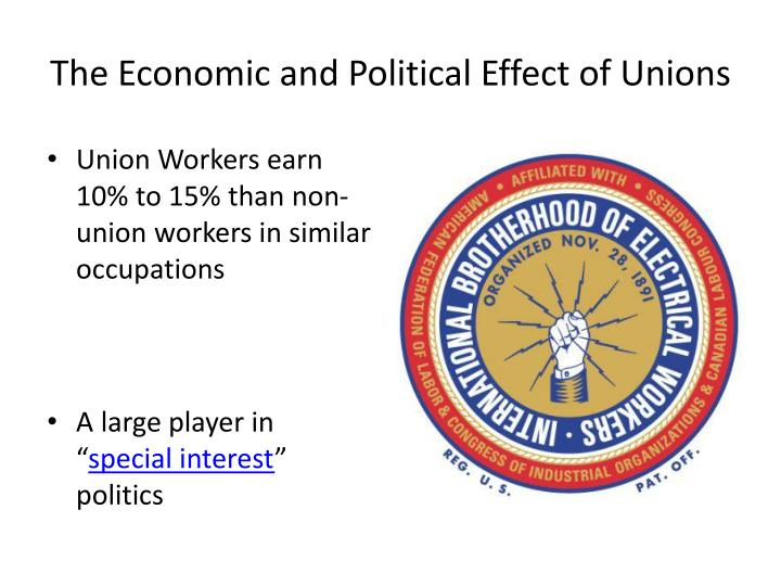The Economic and Political Effect of Unions