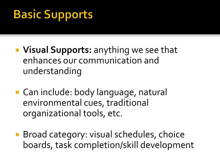 Basic Supports