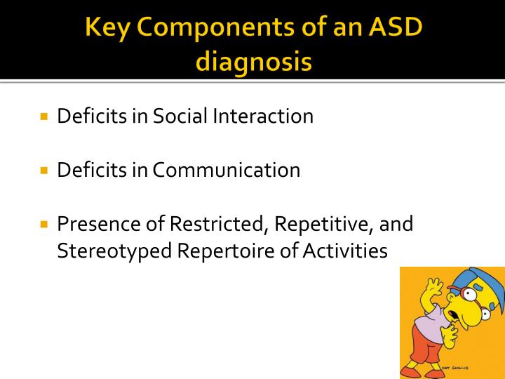 Key Components of an ASD diagnosis