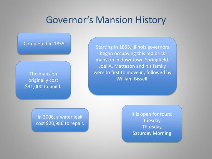 Governor's Mansion History