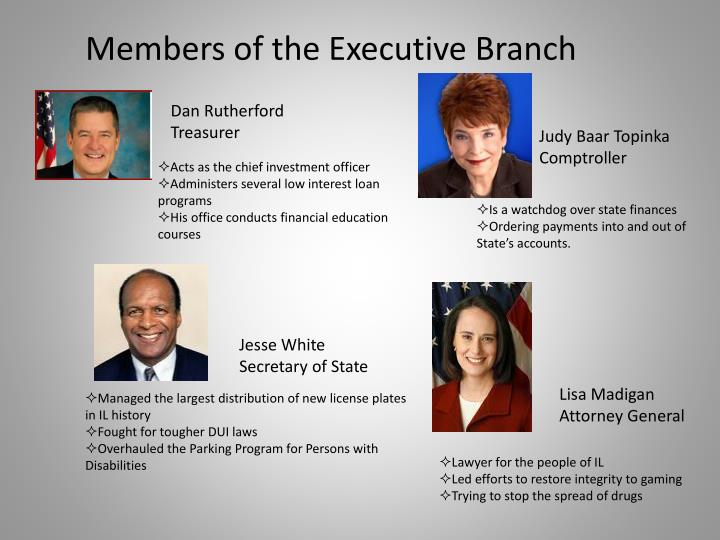 Members of the Executive Branch