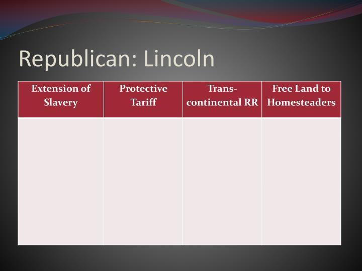 Republican: Lincoln