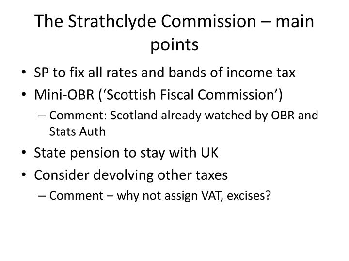 The Strathclyde Commission – main points