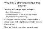 why the sg offer is really devo max not indy