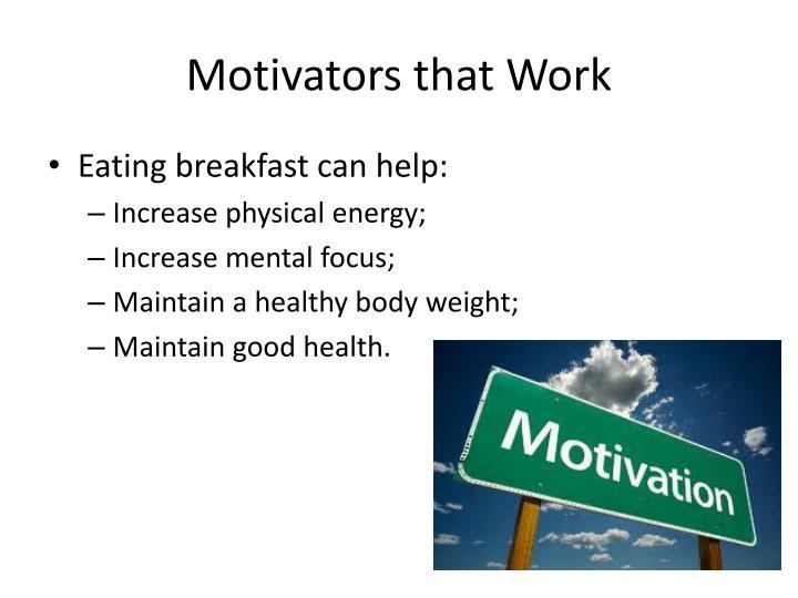 Motivators that Work