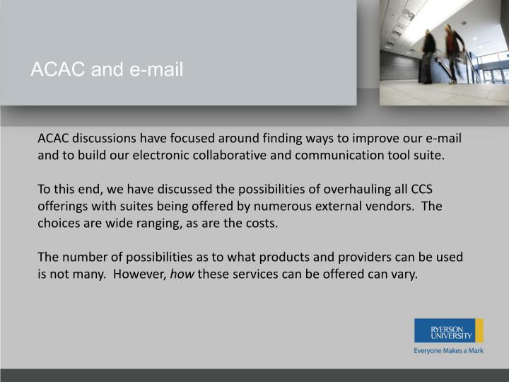 ACAC and e-mail
