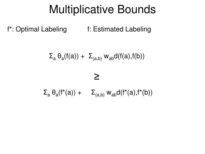 Multiplicative Bounds