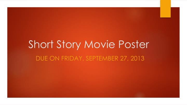 short story movie poster