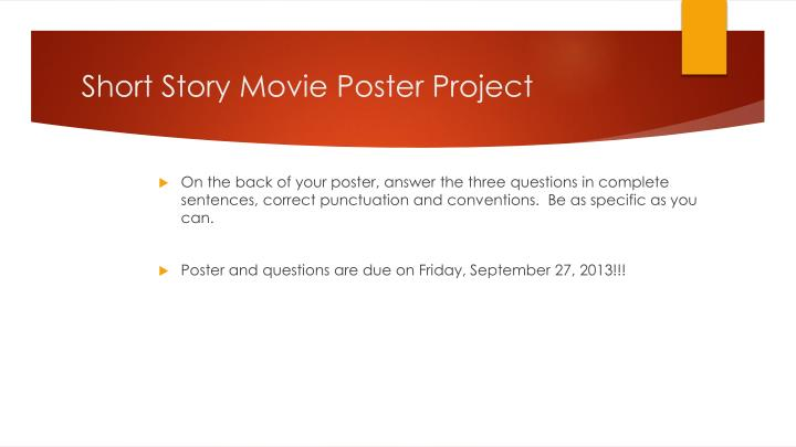 Short Story Movie Poster Project