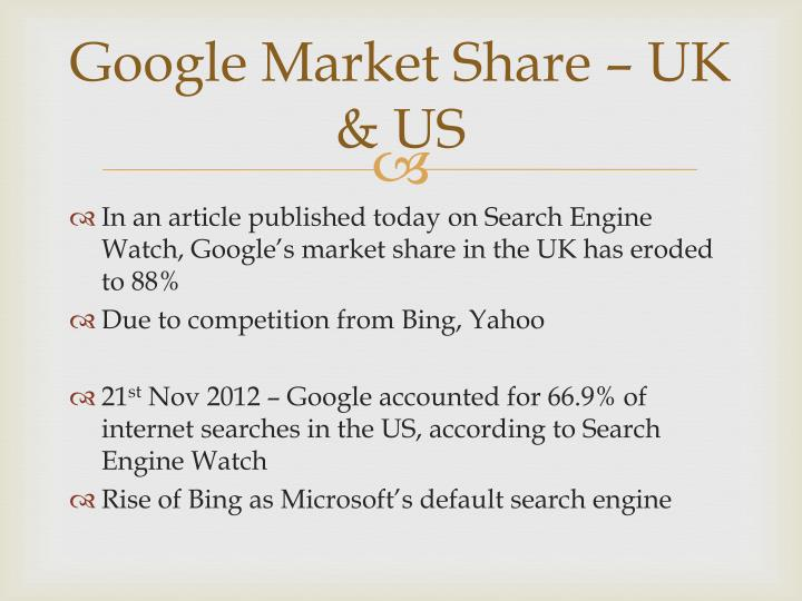 Google Market Share – UK & US