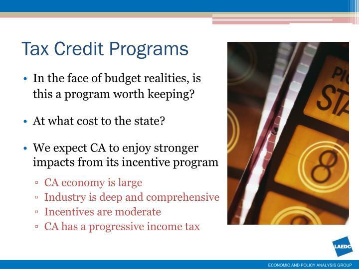 Tax Credit Programs