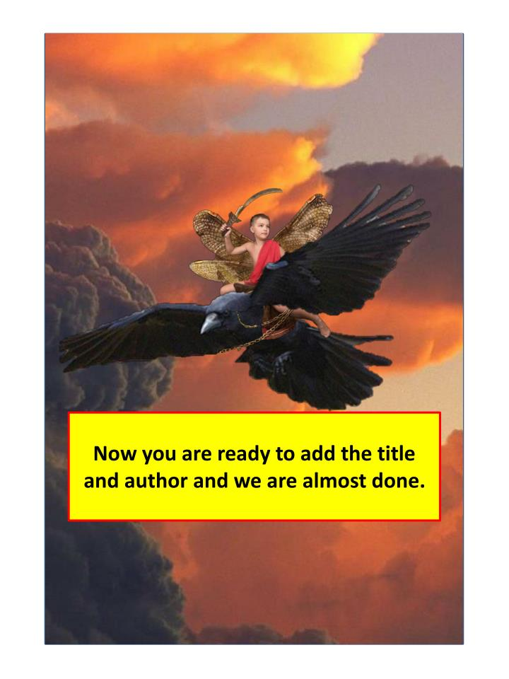 Now you are ready to add the title and author and we are almost done.