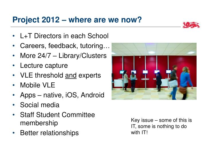 Project 2012 – where are we now?