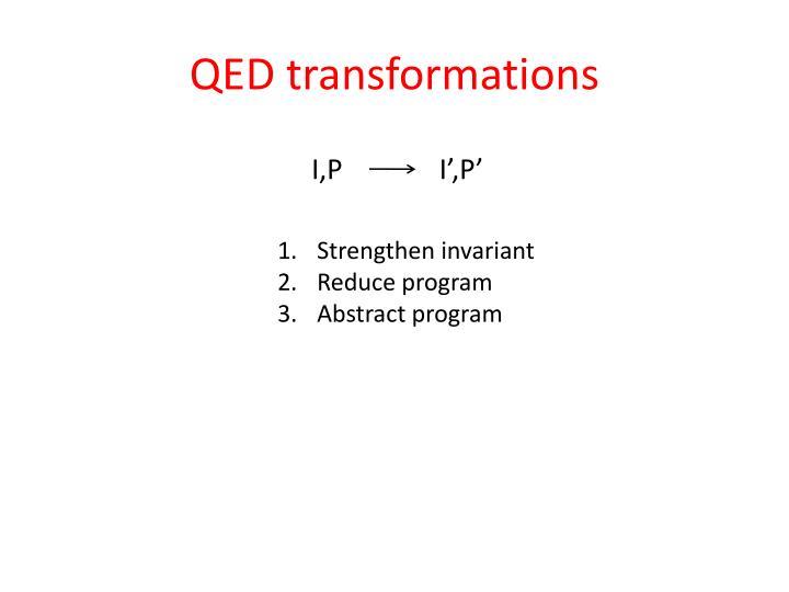 QED transformations
