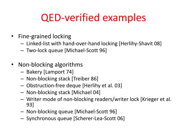 QED-verified examples
