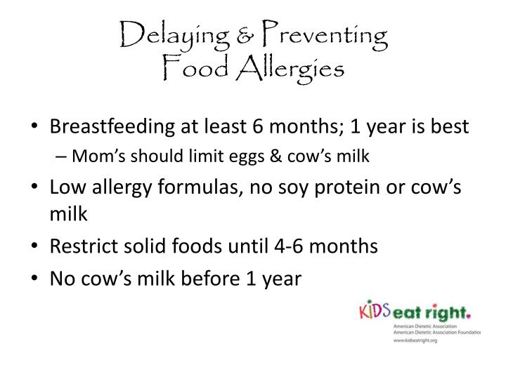 Delaying preventing food allergies
