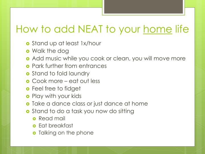 How to add NEAT to