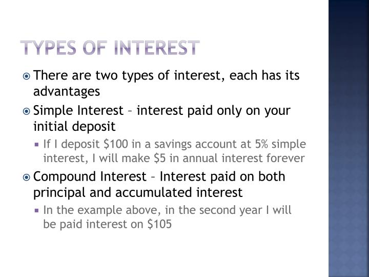 Types of Interest