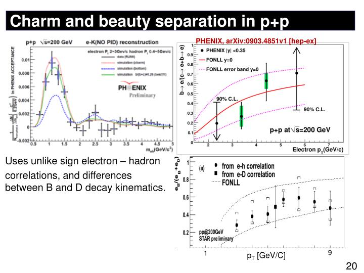 Charm and beauty separation in p+p