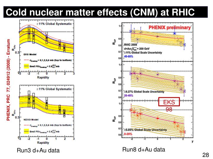Cold nuclear matter effects (CNM) at RHIC