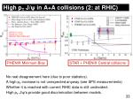 high p t j in a a collisions 2 at rhic