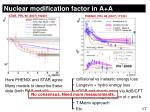 nuclear modification factor in a a