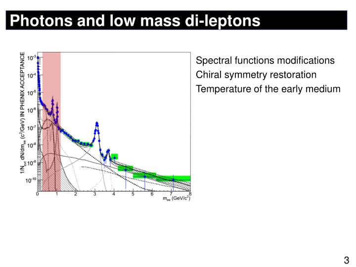 Photons and low mass di leptons