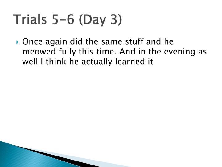 Trials 5-6 (Day 3)