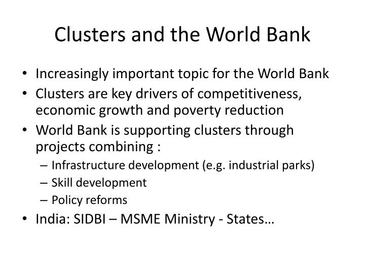 Clusters and the World Bank