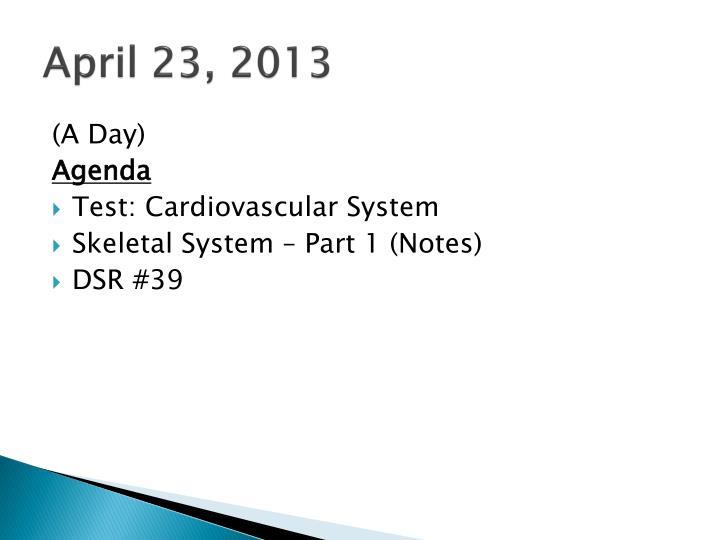 April 23, 2013