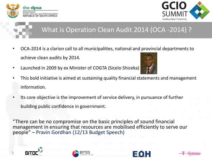 What is Operation Clean Audit 2014 (OCA -2014
