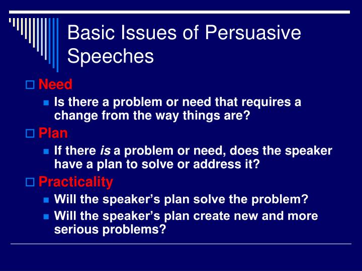 Basic Issues of